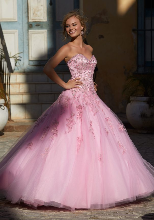 Pink Princess Tulle Mori Lee Prom Dress Bmodish