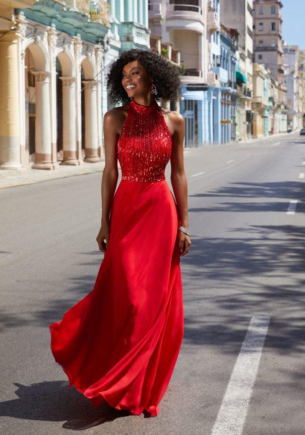 Red Chiffon Mori Lee Prom Dresses Bmodish