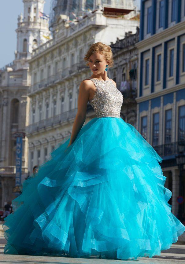 Ruffled Tulle Prom Dress Mori Lee Bmodish