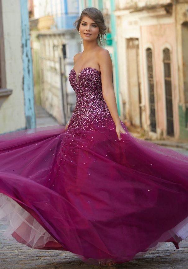 Sweetheart Tulle Mori Lee Prom Dress Bmodish