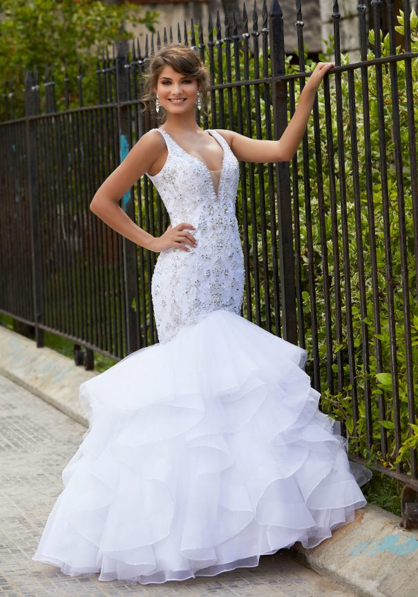 Tulle Organza Mermaid mori lee prom dresses 2014 bmodish
