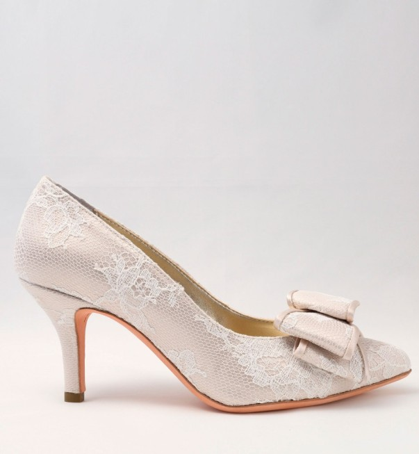 White Lace Wedding Shoes with bow Alessandra Rinaudo 17 bmodish