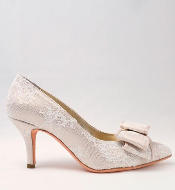 White Lace Wedding Shoes with bow Alessandra Rinaudo 17 bmodish