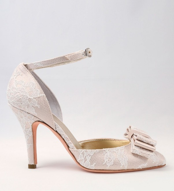 White Lace Wedding Shoes with bow Alessandra Rinaudo 18 bmodish