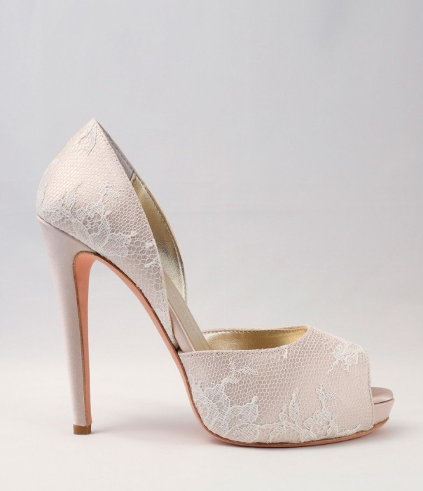 White Lace Wedding Shoes Alessandra Rinaudo 22 bmodish