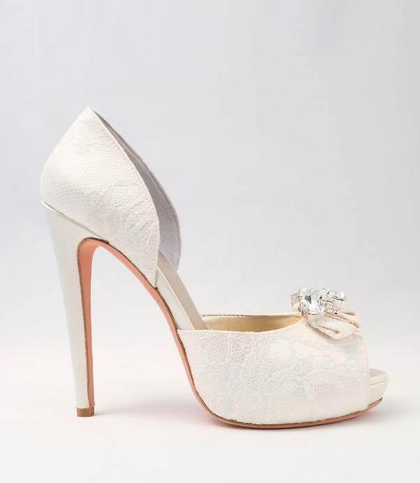 White Satin Wedding Shoes Alessandra Rinaudo 23 bmodish