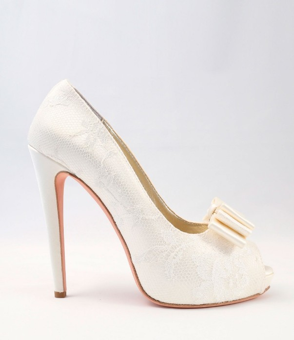 White Lace Wedding Shoes Alessandra Rinaudo 28 bmodish