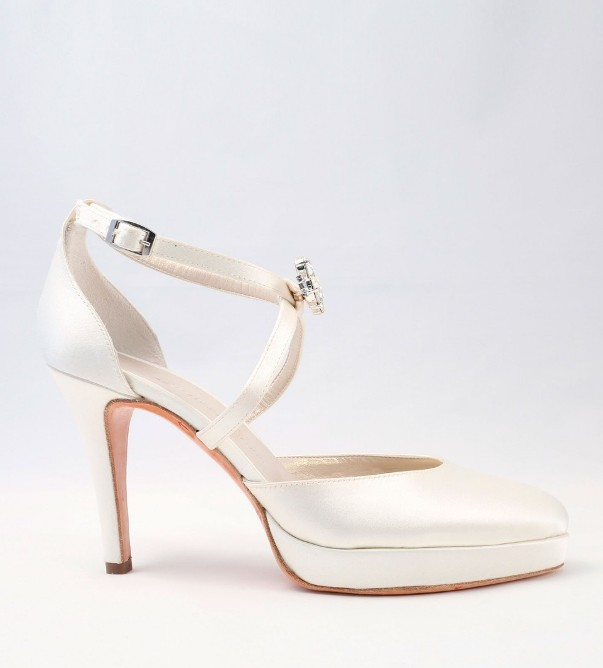 White Satin Wedding Shoes Alessandra Rinaudo 20 bmodish