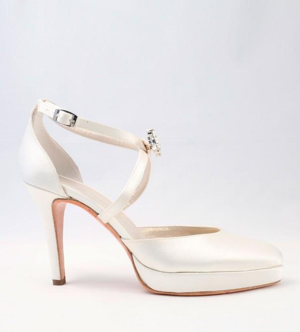 White Satin Wedding Shoes Alessandra Rinaudo 20 bmodish