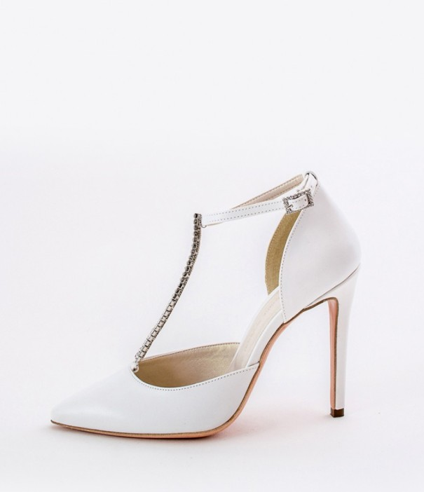 Pointy Toe White Wedding Shoes Alessandra Rinaudo 14 bmodish