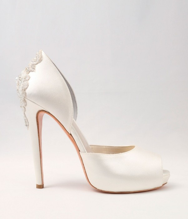 White satin Wedding Shoes Alessandra Rinaudo 24 bmodish