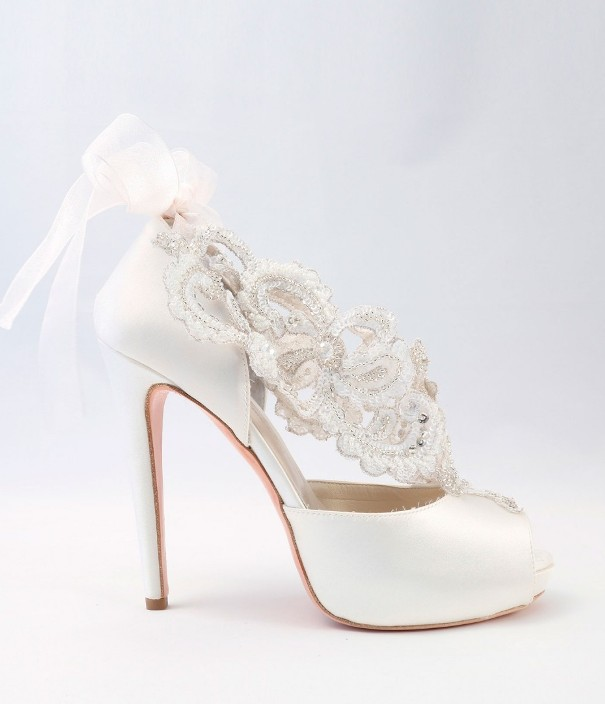 White satin Wedding Shoes Alessandra Rinaudo 25 bmodish