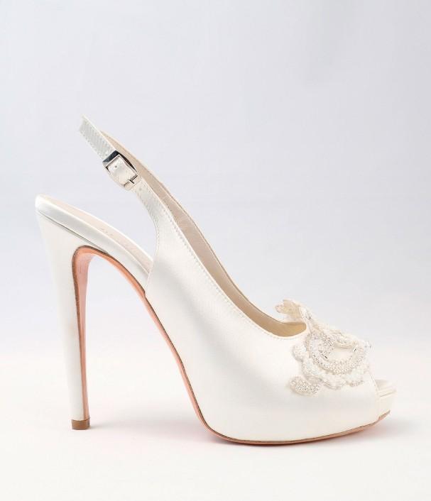 White satin Wedding Shoes Alessandra Rinaudo 26 bmodish