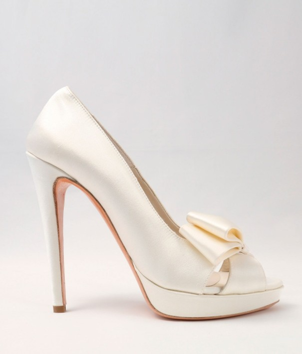 White satin Wedding Shoes Alessandra Rinaudo 27 bmodish