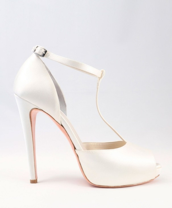 White satin Wedding Shoes Alessandra Rinaudo 30 bmodish