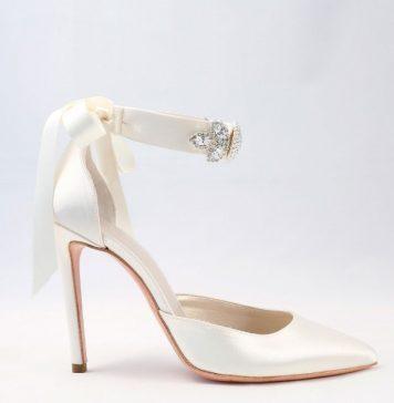 White satin with bow Wedding Shoes Alessandra Rinaudo 33 bmodish