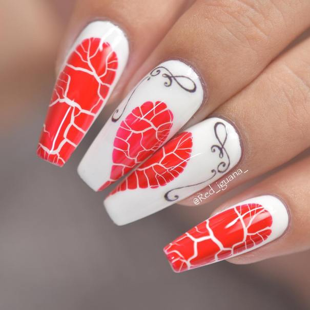 broken heart nail designs