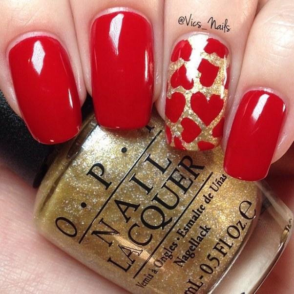 red heart stamping nail designs bmodish