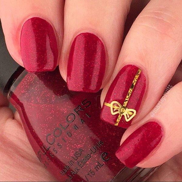 christmas gift nail designs