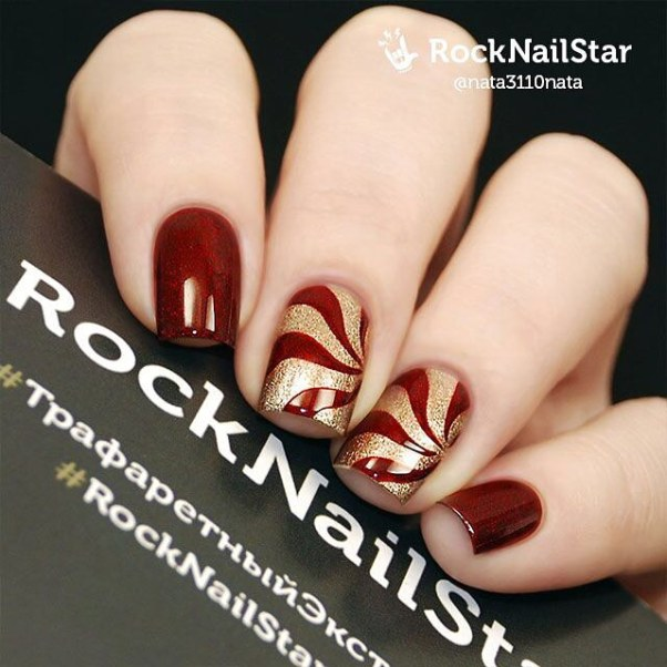 glam swirl nail designs