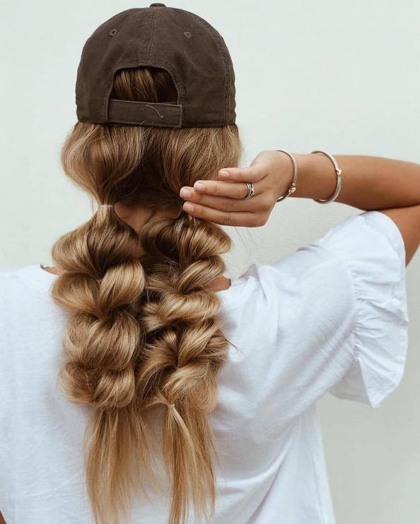 double pull through messy braid