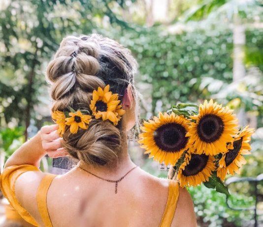 pull through braid into low bun hairstyle