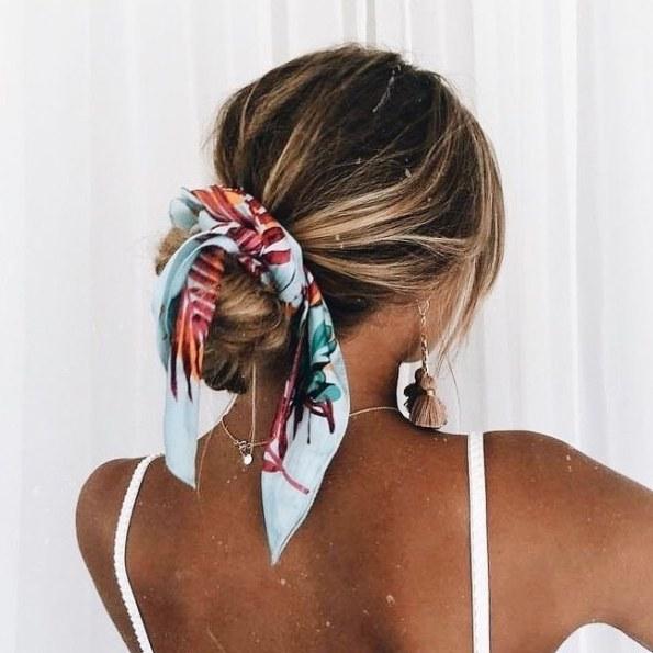 hair scarf updo summer hair bmodish