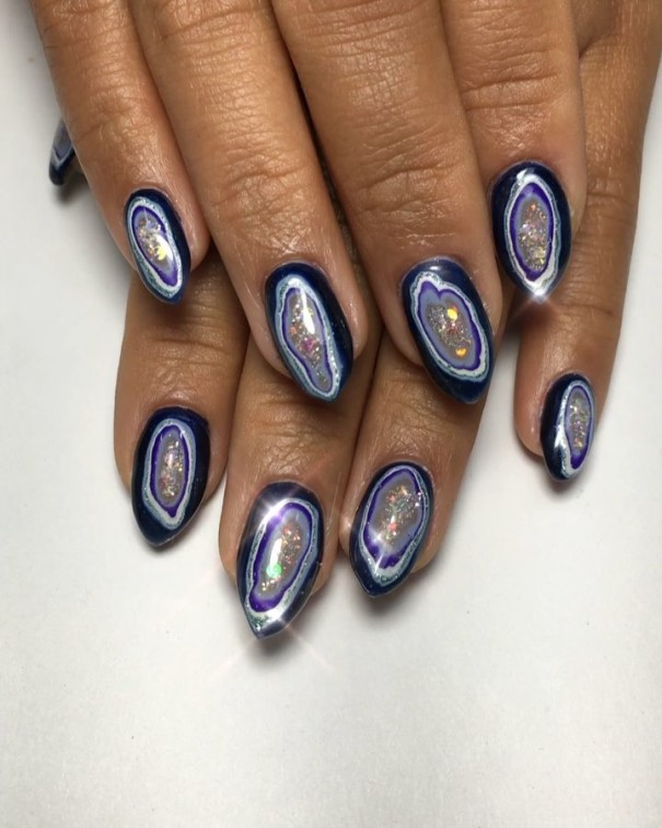 amazing geode nails bmodish