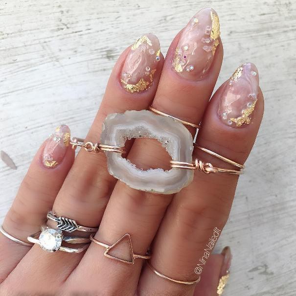 crystal clear geode mani bmodish
