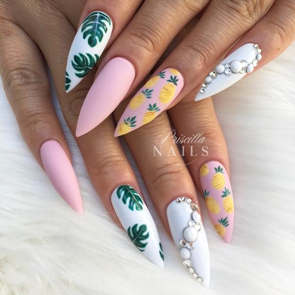 coffin tropical nail arts