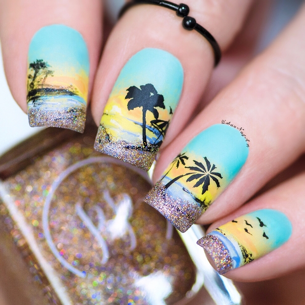 holiday sunset nail designs bmodish