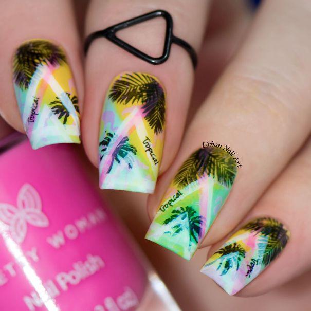 hot miami summer tropical nail art bmodish
