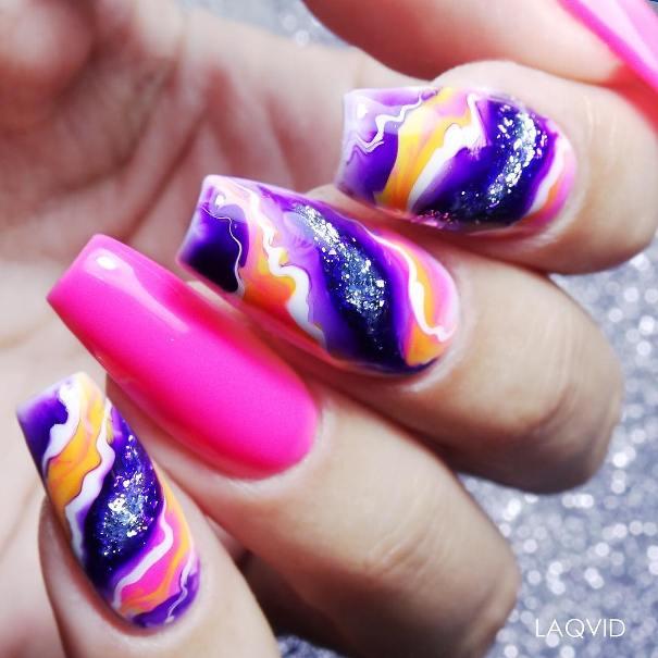 mystical geode nail art