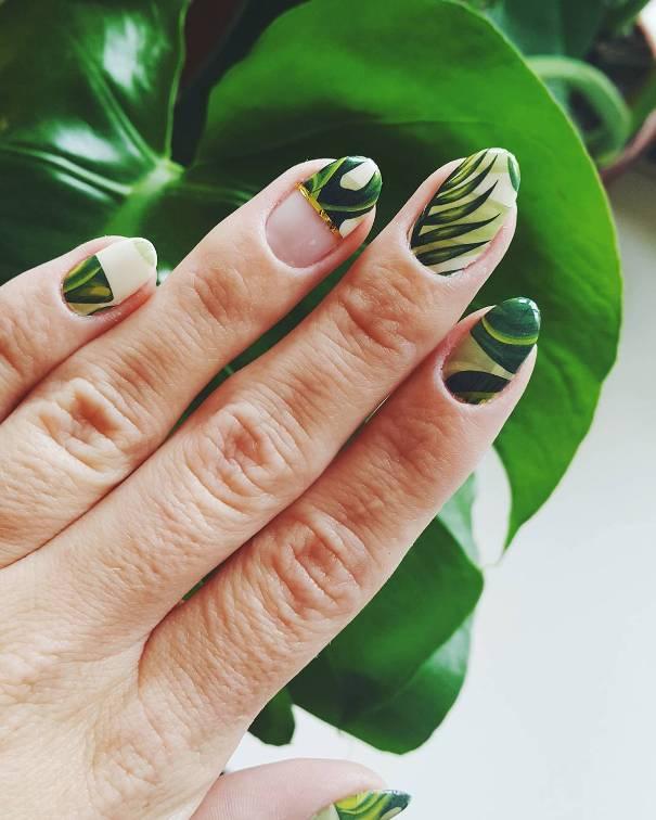 palm trees tropical plants nail design bmodish