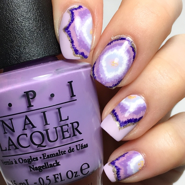 purple geode nails bmodish