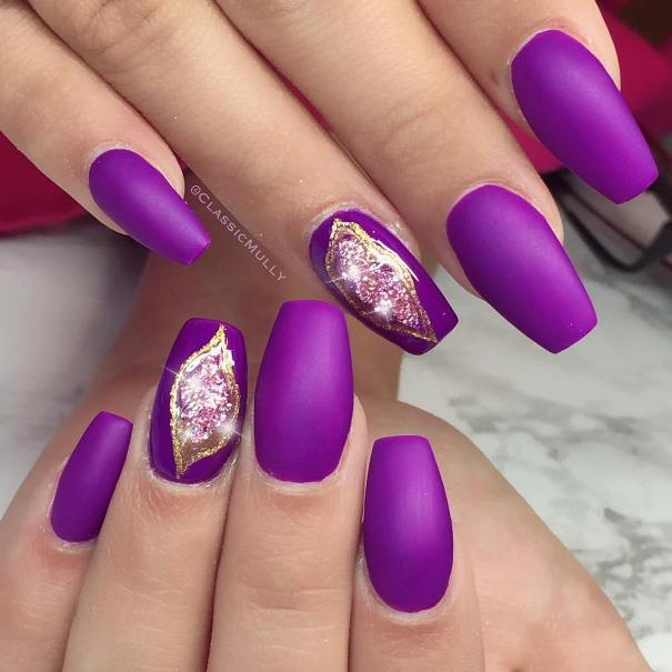 purple geode nails
