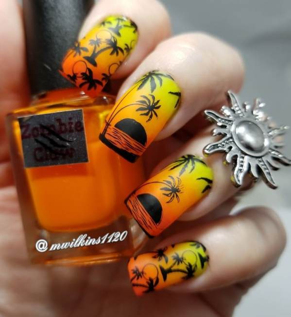 summer sunset nail art bmodish