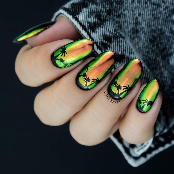 sunset mirror nail design bmodish