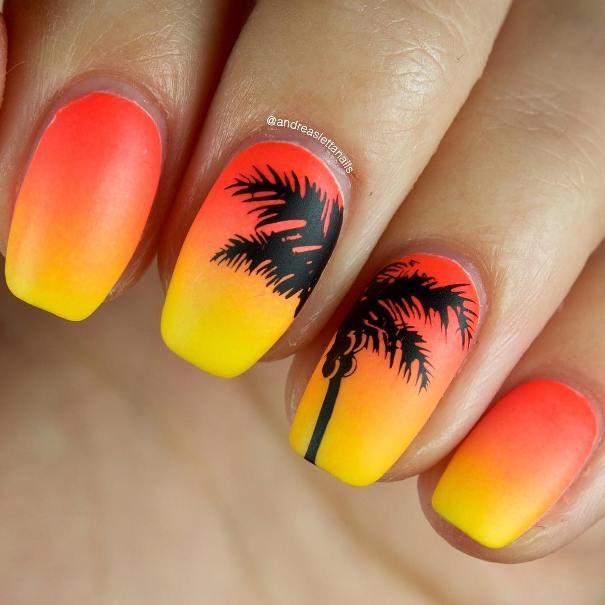 sunset nail design bmodish