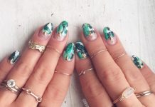 tropical jungle nail design