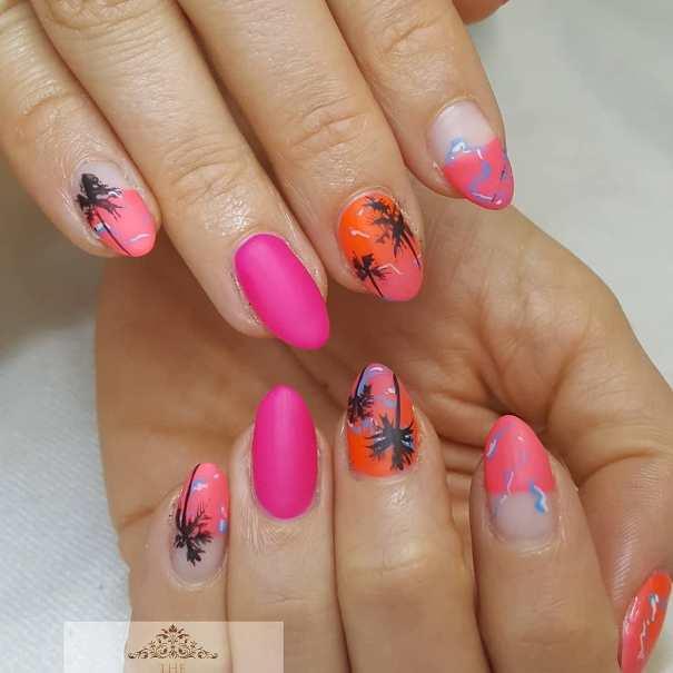tropical sunset nail design bmodish