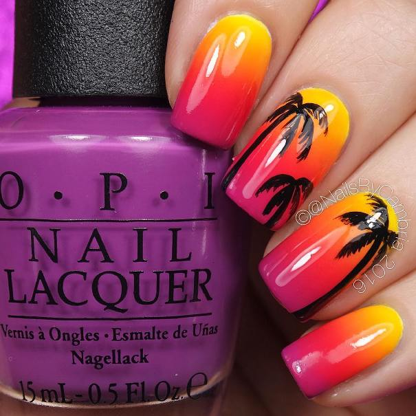 warm sunset in Arizona nail designs bmodish