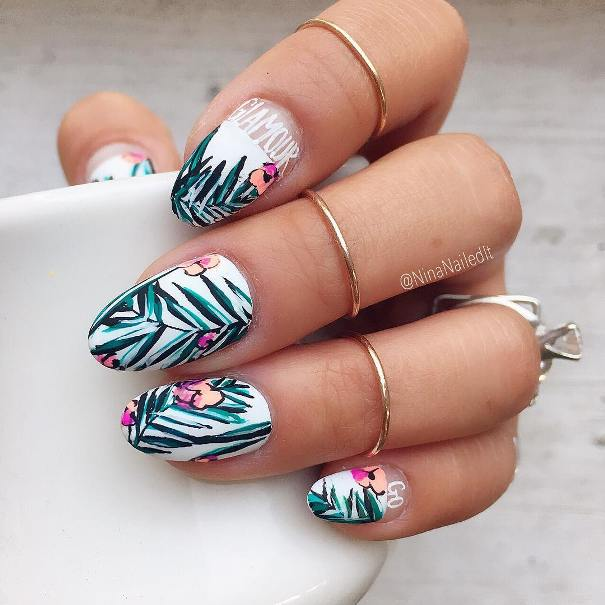 30 Hot Tropical Nail Designs To Brighten Up Your Summer