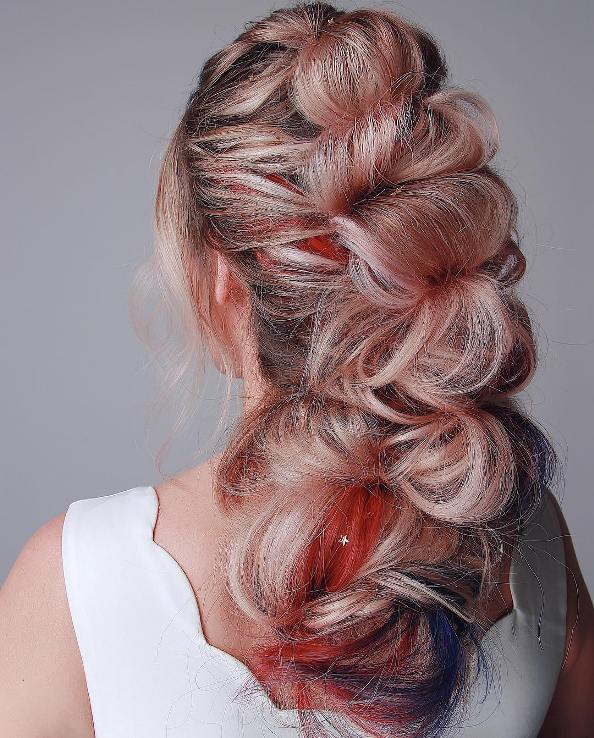 voluminous bubble braid